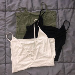 FREE PEOPLE BUNDLE. crossfire cami 3 colors. Small